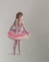 Девочка с розовым кругом