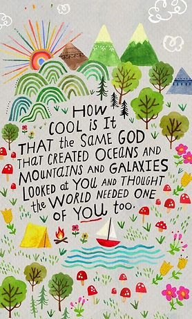 How cool is it that the same God that cr