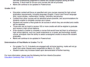 Reporting on Student Learning cont'd...