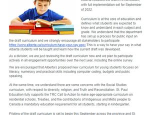 Share your input on Alberta's K-6 Draft Curriculum