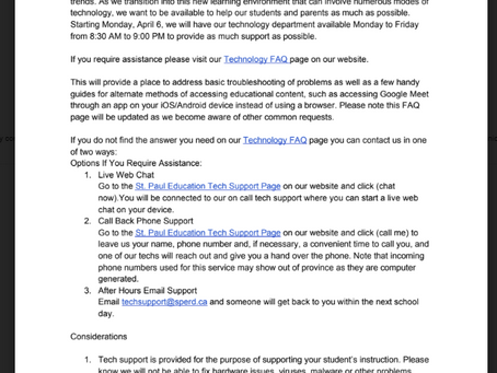 Tech Support for On-Line Learning