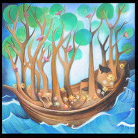 Wooded boat