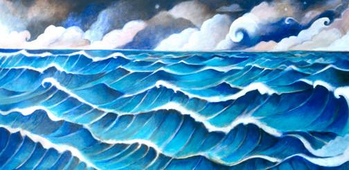 Edge of the following sea