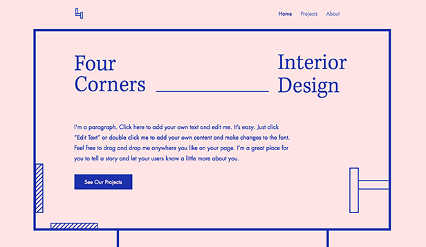Agencias website templates – Diseño de interiores