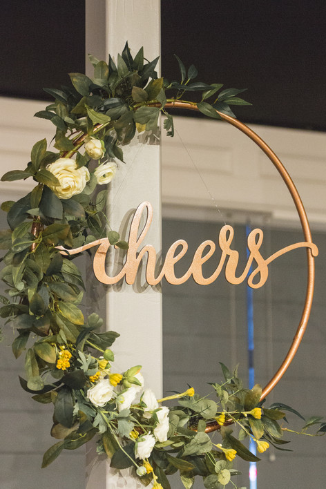 Modern Chic Wedding - Cheers