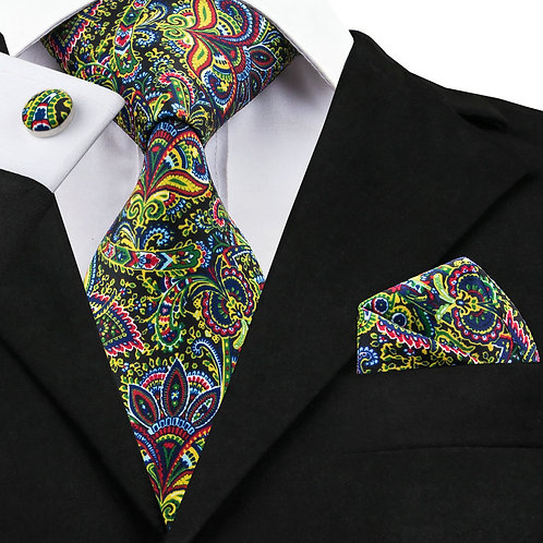 Elegant Multi-Color Paisley Print