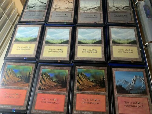 Beta Playset Lands LP- NM- 4 of each color 20 lands