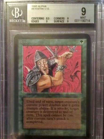 MTG Alpha Berserk BGS 9 Near Mint