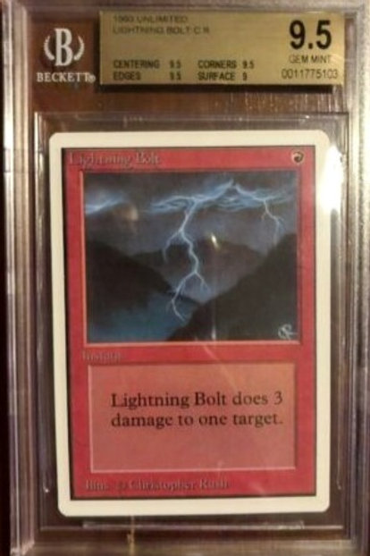 MTG Unlimited Lightning Bolt BGS 9.5