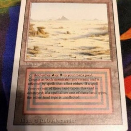 MTG Magic the Gathering - Badlands - 3rd - Revised - Dual Land