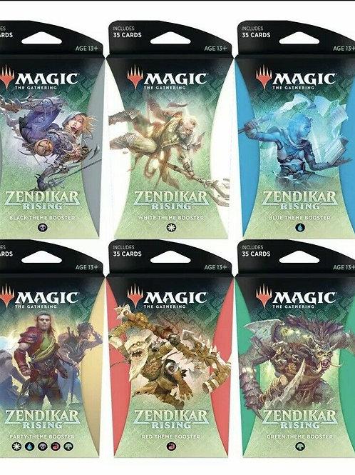 MTG, ZENDIKAR RISING All THEME BOOSTER PACKS Magic 6 Theme Decks
