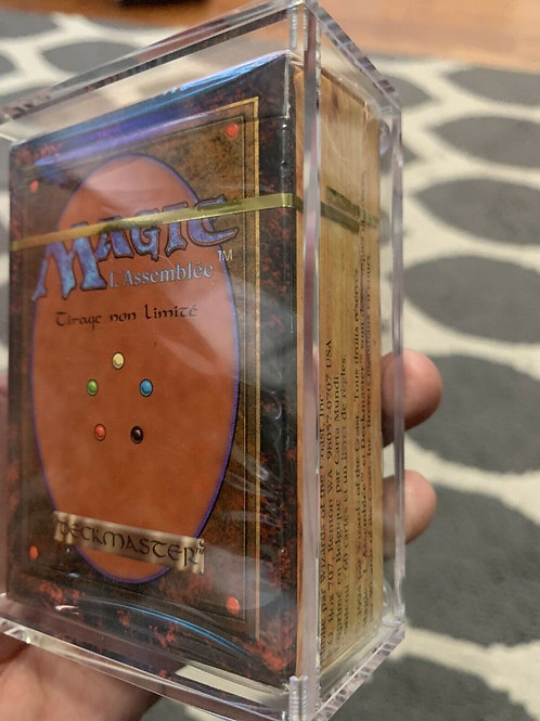 Revised Starter Deck French White Border Factory Sealed Mtg Magic Case Included