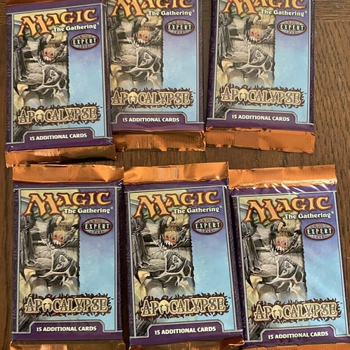 Magic the gathering 6 booster packs of Apocalypse