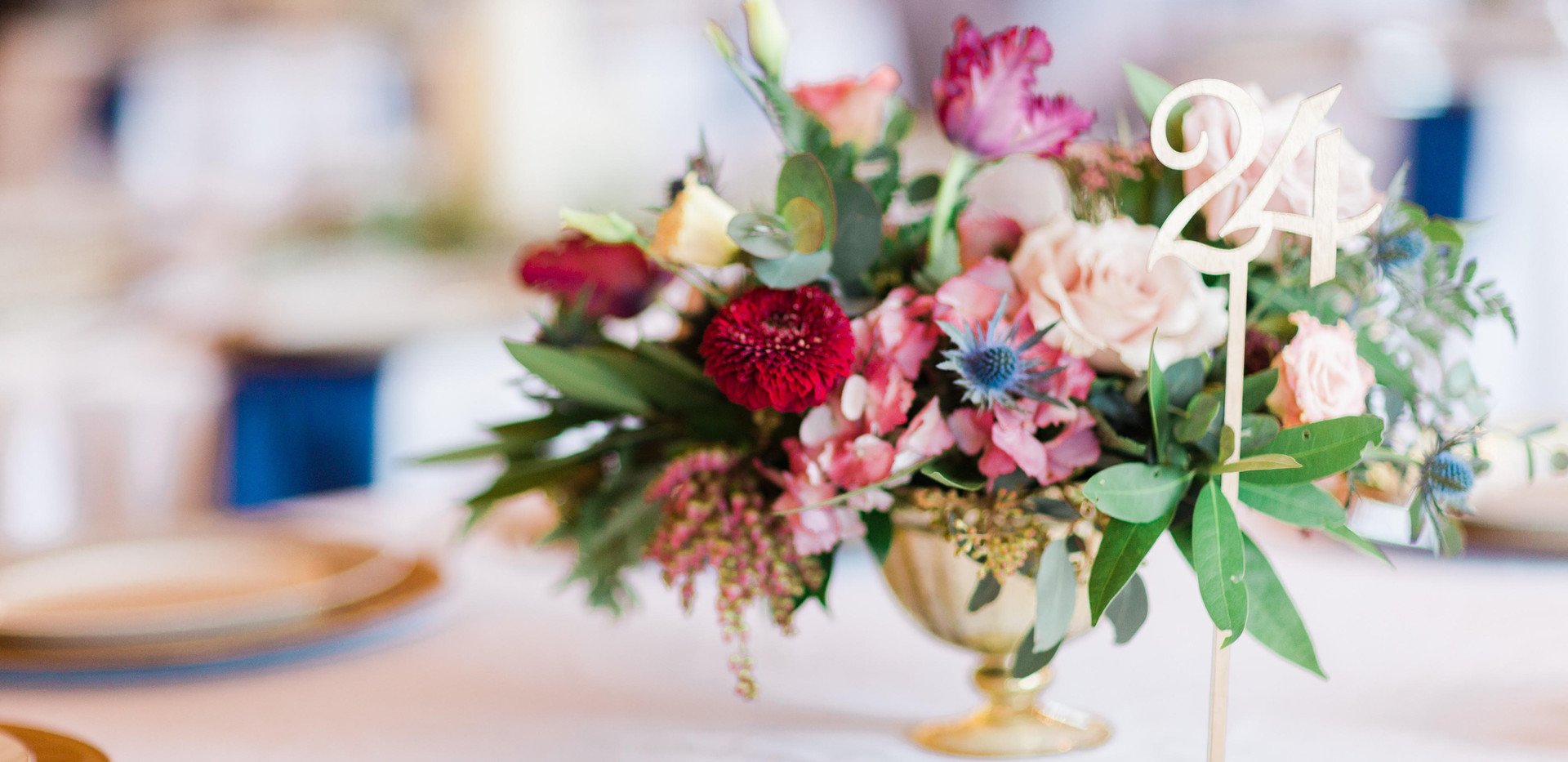 The Venue at Waterstone celina floral centerpiece wedding