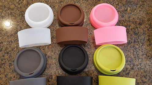 100 Lids and Sleeves- You Choose Color Mix