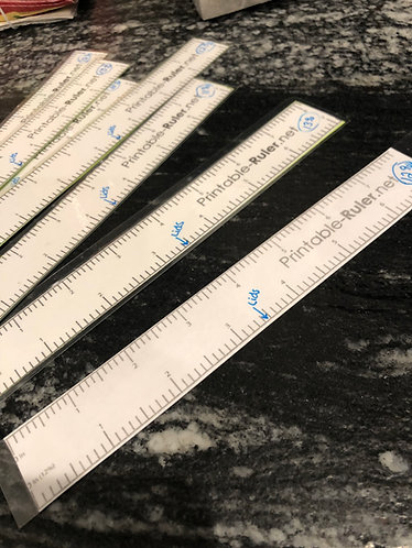 Shrinkage Rulers