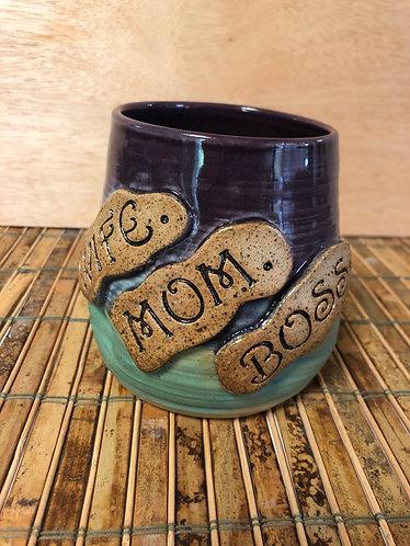 Wine Tumbler- Wife. Mom. Boss