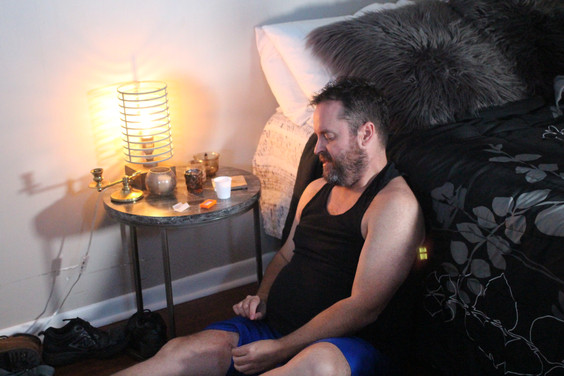 David McMahon in cutting scene - Photo b