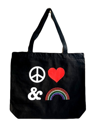 Peace Love & Rainbows Tote