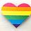 Thumbnail: Rainbow Heart Iron On Patch