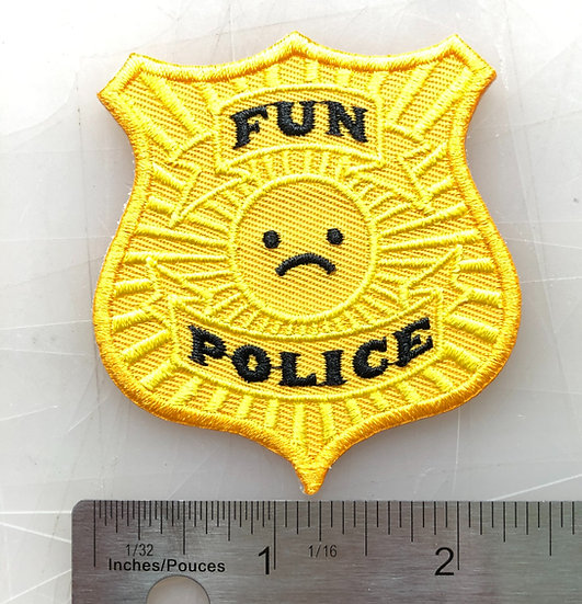 FUN POLICE Iron On Patch