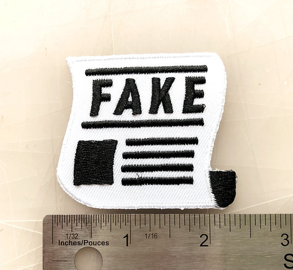 FAKE NEWS Iron On Patch!