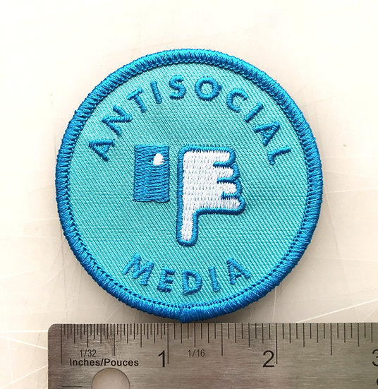 ANIT-SOCIAL MEDIA Iron On Patch!