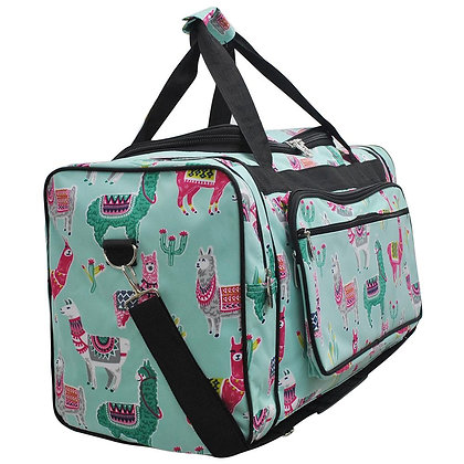 Llama Canvas Duffle Gym Bag
