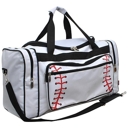Baseball Star Canvas Duffle Gym Bag