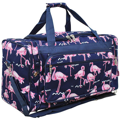 Flamingo Canvas Duffle Gym Bag