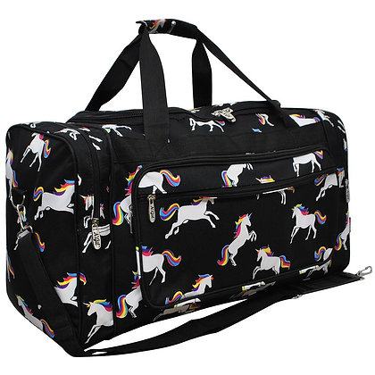 Unicorn Power Canvas Duffle Gym Bag