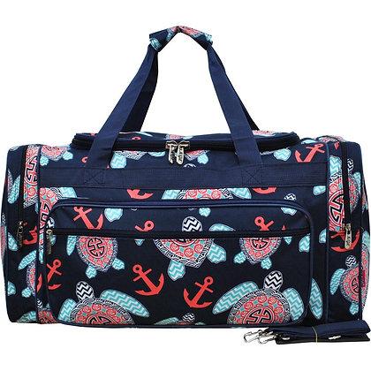 I Like Turtles Canvas Duffle Gym Bag