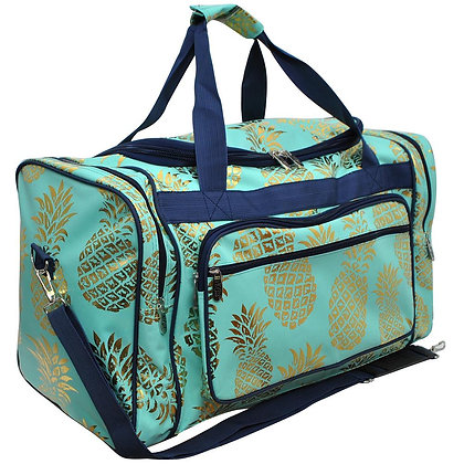 Pineapple Town Canvas Duffle Gym Bag