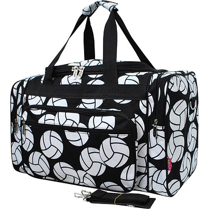 Volleyball Service Canvas Duffle Gym Bag