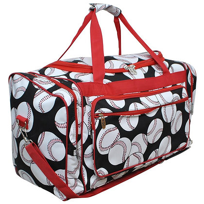 Baseball Fan Canvas Duffle Gym Bag