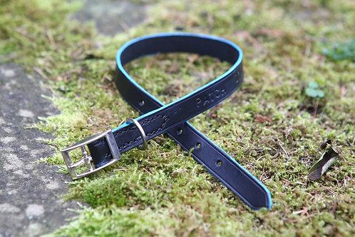 Buckle collar with coloured edge
