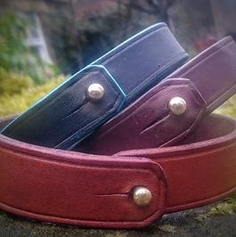 Handmade leather wristbands