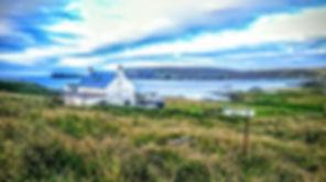 fetlar shetland islands lisa's leatherwork workshop lamb hoga view