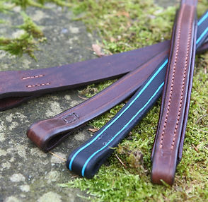 Handmade leather browbands