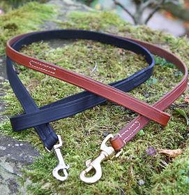 Handmade leather dog leads