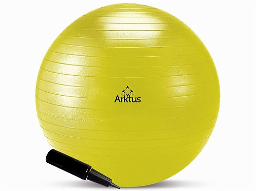 Bola Suíça para Pilates - Inflável com Bomba - Anti-burst, 55cm - Arktus
