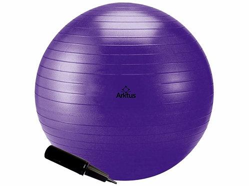 Bola Suíça para Pilates - Inflável com Bomba - Anti-burst, 65cm - Arktus