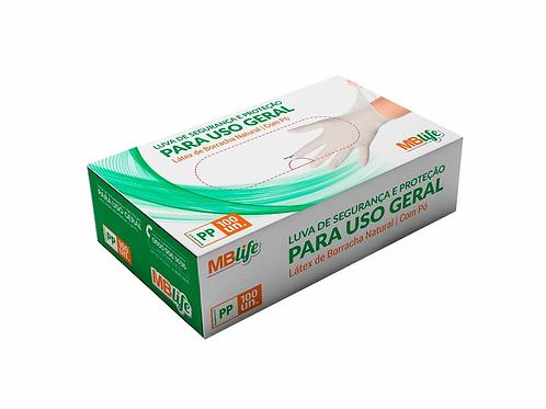 Luva Descartável - Látex - Com Pó - 100un - Medix Brasil