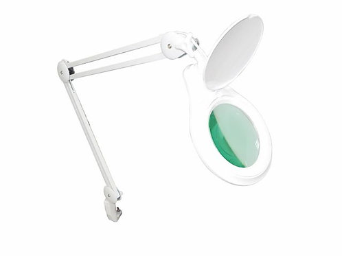 Lupa Articulada - LED - Dimmer 5D - Com Apoio para Mesa – Solver