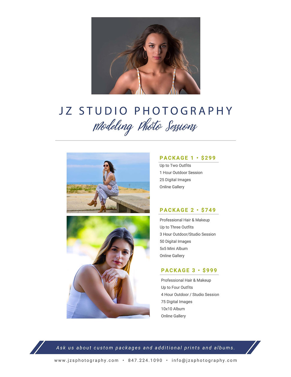 JZ STUDIO PHOTOGRAPHY MODELING PACKAGES.