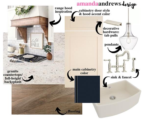 online kitchen and bath design concept board mood board modern kitchen design