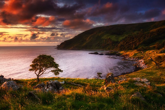 Murlough Bay is located on the Causeway Coast in Northern Ireland