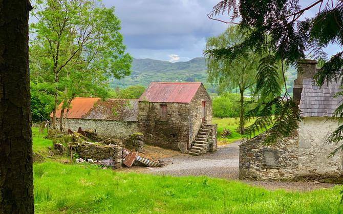 Stone farmhouse near Lough Eske