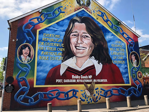 Bobby Sands mural on Falls Road in Belfast