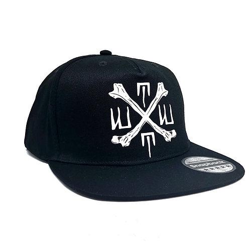 TUBBY TOM'S WORLDWIDE CROSSBONES SNAPBACK CAP - ALL BLACK